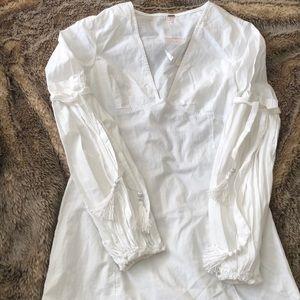 Free People White Cotton Dress